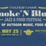banner for the Smoke 'N Blues Festival